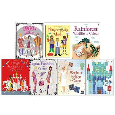 Usborne Historical Sticker And Colouring 7 Books Collection Set Paperback New