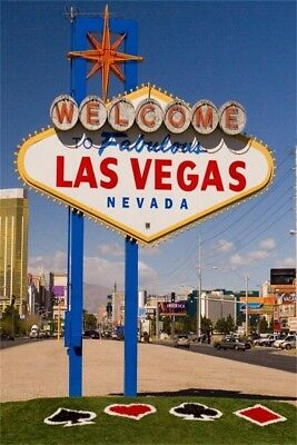 UK  Stock Las Vegas City Backdrop Event Portrait Photography Background 5x7ft