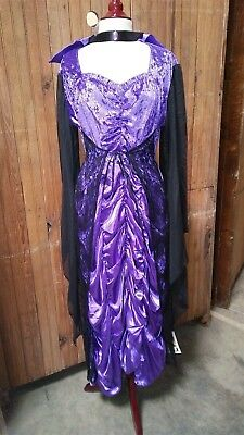 Victorian Trading Bride of Dracula Purple Halloween Costume MD