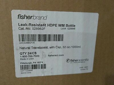 NEW Fisherbrand Leakproof HDPE Wide-Mouth Bottles