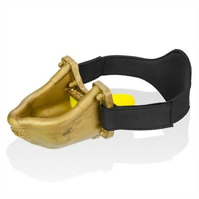 Urinal Strap-on Piss-Gag With Yellow Insert - Gold / 137550