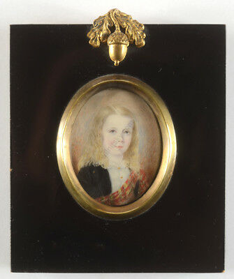 """""""George Herbe from Salisbury Heights at age 6 1/2"""", American miniature"""