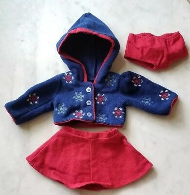 American Girl Doll Today Molly Winter Ice Skating Outfit Snowflake Retired Year