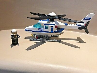 Lego City 7741 Police Helicopter 100 Complete Helicopter With