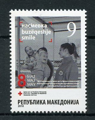 Macedonia 2018 MNH World Day Red Cross Charity 1v Set Medical Health Stamps