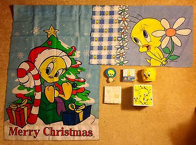 Looney Tunes Tweety Collection w/ Tissue Holder, Nightlight, Stickers + More