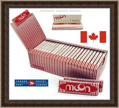 4 Booklets NEW Moon Red Cigarette Tobacco Rolling Papers 70*36mm