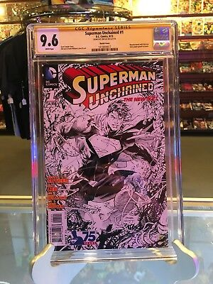 Superman Unchained #1 Sketch Cover Variant Signed By Jim Lee 9.6