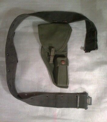 Ww2 British Army Belt And Holster  1944 Pattern Webbing.