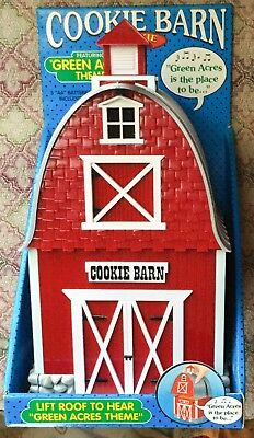 Musical COOKIE BARN jar ~ Green Acres Theme Song~From year 2000~Still New in Box