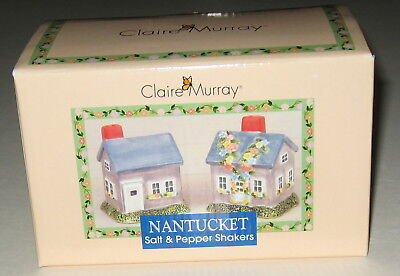 Claire Murray Nantucket Salt and Pepper Shakers Set Sakura New Mint Condition