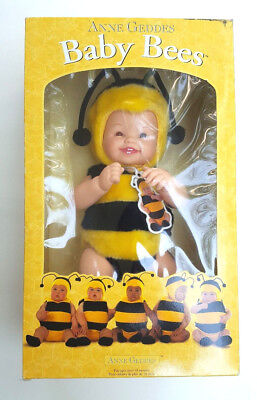 Vintage Anne Geddes Baby Bees Doll Toy 1997 NEW IN THE BOX