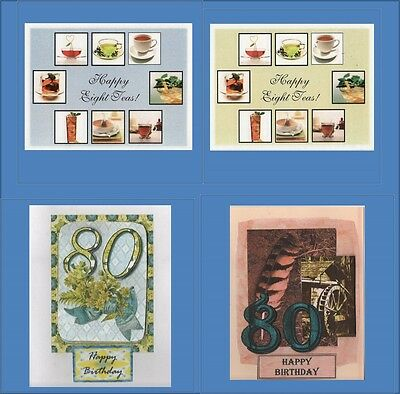 Handmade 80th Birthday Cards Free Shipping In USA