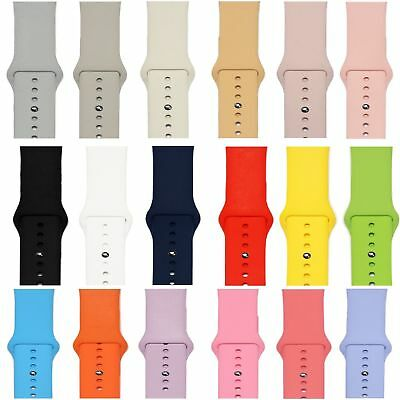 Replacement Band for Apple Watch Series 4/3/2/1 Silicone Sport 44mm 40mm 38/42mm