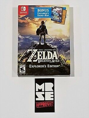 Legend of Zelda Breath of the Wild Explorer's Edition Nintendo Switch New Sealed