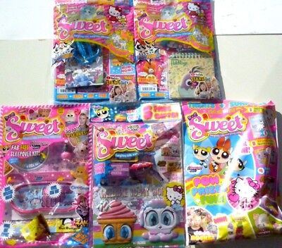 5 x SWEET MAGAZINES WITH GIFTS ~ NEW ~