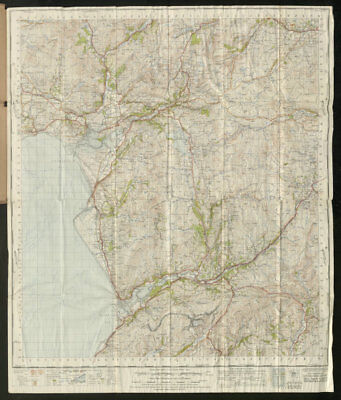 Dolgelly Sheet 116 Dollgellau Snowdonia Barmouth ORDNANCE SURVEY 1947 old map