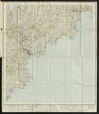 Truro & Falmouth Sheet 190 St Austell Roseland coast ORDNANCE SURVEY 1946 map
