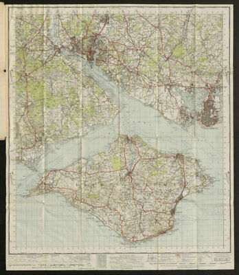 Solent Sheet 180 Southampton Portsmouth Isle of Wight ORDNANCE SURVEY 1945 map