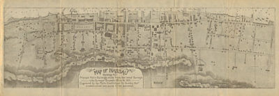 Antique town city plan of NASSAU, BAHAMAS by Stark 1891 old map chart