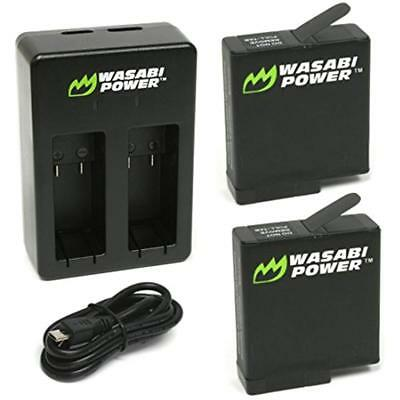 Battery (2-Pack) & Dual Charger For GoPro HERO7 Black, HERO6 2DAY SHIP