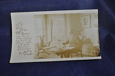 1924 RPPC Room in Which President Coolidge Took Oath, Plymouth, Vermont Postcard