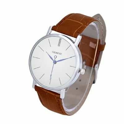 Men's Casual Leather Watch Fashionables Quartz Blue Ray Glass Wristwatches Gifts