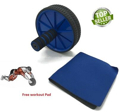 Ab Roller Wheel Abs Crunch Machine Abdominal Stomach Slide Exercise Roll Out pad