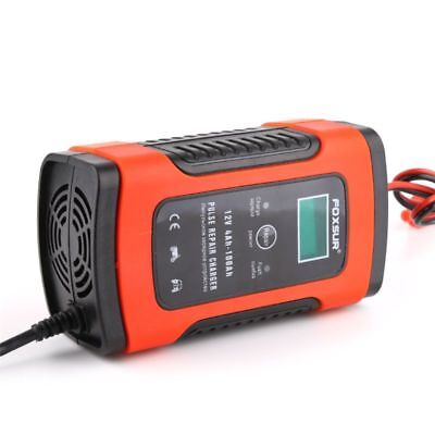 12V 5A Pulse Repair Charger For Car Motorcycle AGM GEL WET Lead Acid Battery LCD