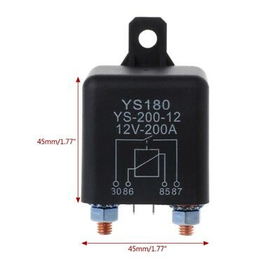 12V 200Amp 4Pin Start Relay Heavy Duty ON/OFF Switch Split Charge Relay For Car