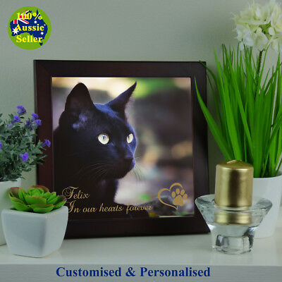 Pet Memorial Plaque Personalised Photo for Cat Pets.