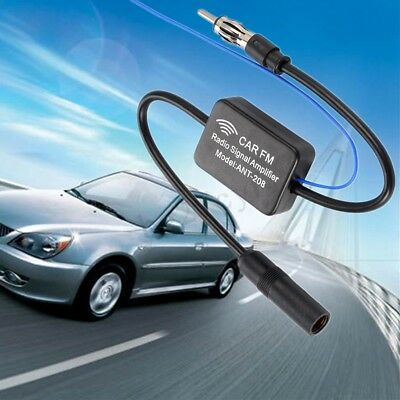 Car Inline Antenna Aerial Radio Vehicle AM FM Signal Booster Amplifier ANT-208