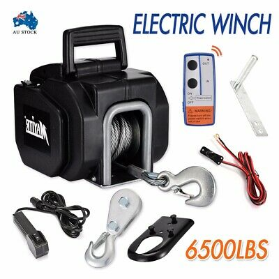 6500LBS 2946KG Electric Winch 10M Steel Cable 12V Boat ATV 4WD 4x4 Trailer  AUS