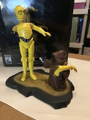 C-3PO and Jawa STAR WARS Gentle Giant Maquette Animated 4500Ltd Edition