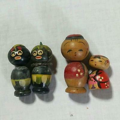 Kokeshi Japanese traditional crafts mini retro cute vintage rare popular F / S!