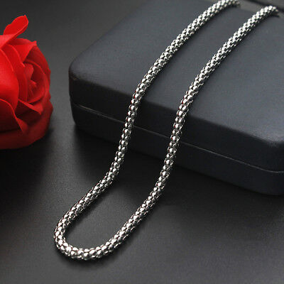 WHOLESALE 2mm&2.4mm&3.2mm 20''-22'' 316L Stainless Steel Popcorn Chains Necklace
