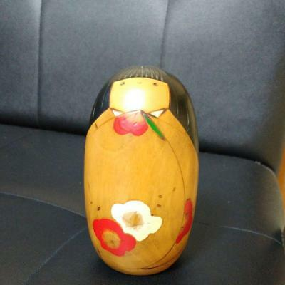 Kokeshi Japanese traditional crafts cute vintage rare popular flower F / S!