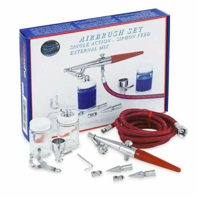 Airbrush Paasche H Set Single Action Siphon Feed Airbrush Set with Three Spray H