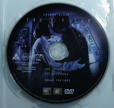 The X-files Season 8 Disc 6 - DVD - 2001 - R4 - Region 4 - SAMPLE - edk