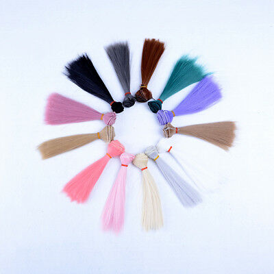 15x 100cm DIY Doll High-temperature Wire Straight Hair Wig 1/3 1/4 1/6 new.