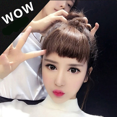 35inch Clip in Front Bangs Fringe Matte Synthetic Hair Extensions Hairpiece 1PCS