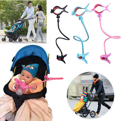 AU Baby Strollers Bed Antislip Adjustable Hands-free Milk Bottle Clip Holder