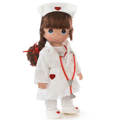 """Precious Moments Dolls by The Doll Maker Loving Touch Nurse Brunette 12"""" Doll"""