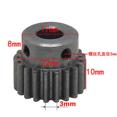 Spur Gear Motor Gear Outer 1 Module 20 Teeth Diameter 22mm Bore 6/7/8/10/12mm