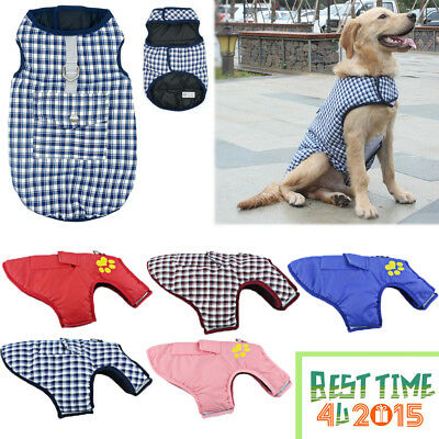 Waterproof Pet Dog Clothes Winter Warm Padded Coat Pet Vest Jacket Small/ Large