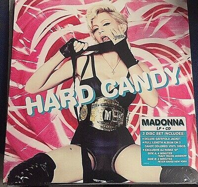 Madonna - Hard Candy - 3 Vinyl Lp Colored + Cd Coll - 1° St  Ed - Sealed Mint