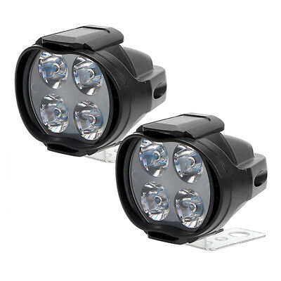 Motorcycle 12W 4 LEDs Headlight Spot Lights Head Lamp Front DC 12V Driving New