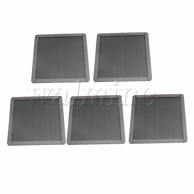 14cm Width Magnetic Dust-proof Filter Mesh for PC Computer Set of 5 Black