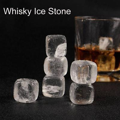1/3pcs Whisky Ice Stones Drinks Cooler Cubes Whiskey Clear Crystal Stone UK