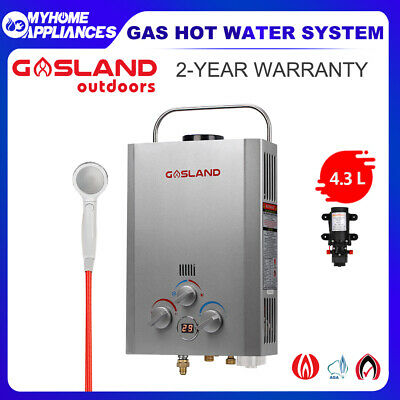 MADEMSA Gas Hot Water Heater Portable Camping Shower LPG Caravan Outdoor System